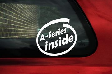 A Series inside stickers. For classic Austin / morris mini cooper S